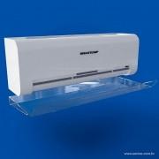 DF01-Defletor em Acrilico para Ar Condicionado Split 7/9/12/13000 Btu 90x40 Cm