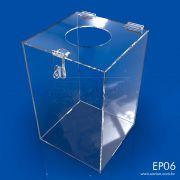 EP06-Caixa Em Acrilico Para Descarte 20x20x30 Cm