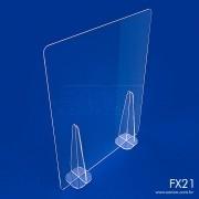 FX21- Divisória de Acrílico para Mesa e Balcão 50x66 cm
