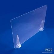 FX22- Divisória de Acrílico para Mesa e Balcão 100x66 cm