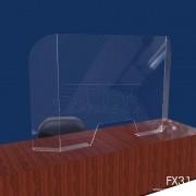 FX31- Proteção Em Acrilico Para Mesa e Guichê 85x61 cm