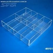 DV - Divisórias de gaveta em acrilico - sob encomenda