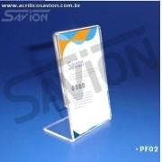 PF02-Porta Folheto de mesa 6x9 cm