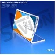 PF03-Porta Folheto de mesa 7,5x4 cm
