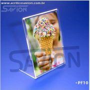 PF10-Porta Folheto de mesa 10x15 cm