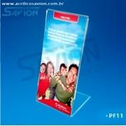 PF11-Porta Folheto de Mesa 11x21 Cm