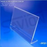 PF21-Porta Folheto de mesa 15x10 cm