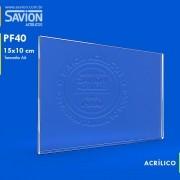 PF40-Porta Folheto de Parede 10x15 Cm A6 Horizontal