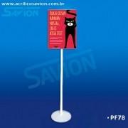 PF78-Porta Folheto em Acrilico de Piso A3
