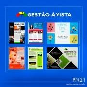 PN21-Painel Informativo com bolsas A4 e A3 Sem gravação 85x100 cm