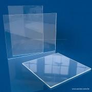RC13-Placa em acrilico transparente 100x100cm com 3mm de espessura