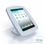 TC06-Suporte Em Acrilico de Mesa e Parede Para Ipad Com Acesso 32x30x35 Cm