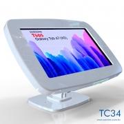 TC34-Suporte Em Acrilico Mesa e Parede Samsung Tab A7 T505 10,4