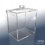 UP20-Caixa em Acrílico com tampa 11x15x16 Cm 1,5 L