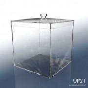 UP21-Caixa em Acrílico com tampa 19x19x20 Cm 5 L