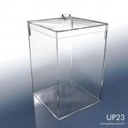 UP23-Caixa em Acrílico com tampa 20x20x28 Cm 10 L