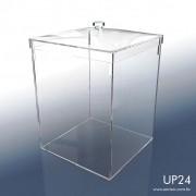 UP24-Caixa em Acrílico com tampa 24x24x31 Cm 15 L