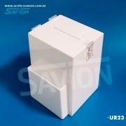 UR23 - Urna Para Sugestão Branca C20xp17xa26 Cm 1000 Cupons