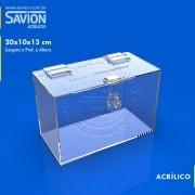 UR27-Mini Urna de Parede C20xp10xa13 Cm 100 Cupons