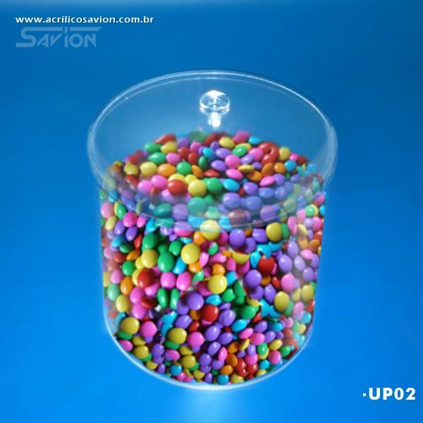 UP02-Pote Redondo com tampa 25 Cm Ø Altura 22 Cm