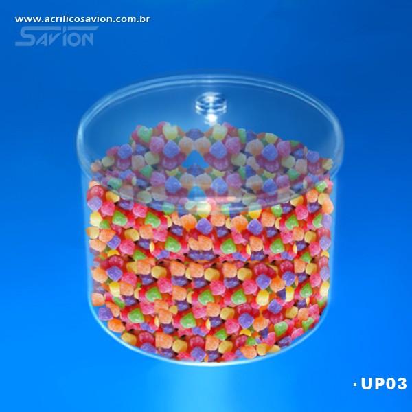 UP03-Pote Redondo com tampa 35 Cm Ø Altura 22 Cm