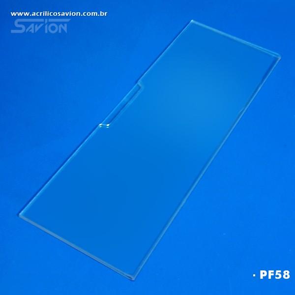 PF58-Porta Etiqueta de Parede 30x10 Cm