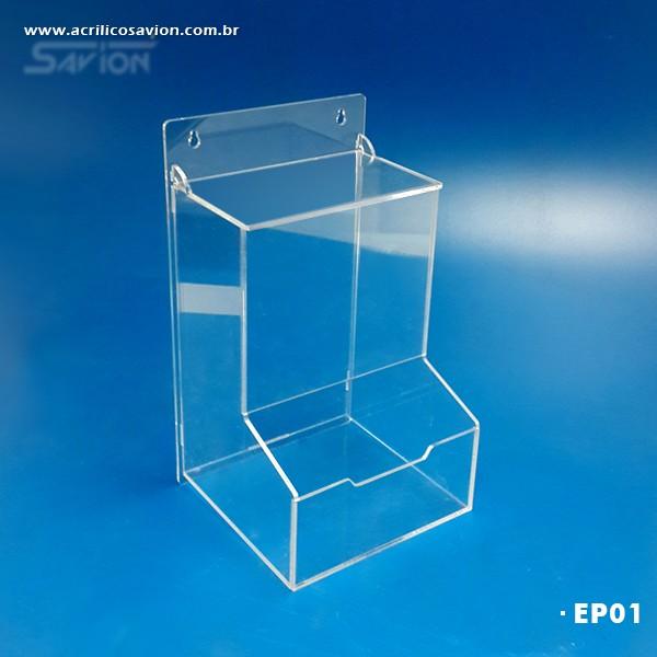 EP01-Caixa em Acrilico para EPI 18x18x32 cm