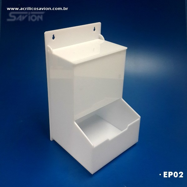 EP02-Caixa em Acrilico para EPI 18x18x32 cm