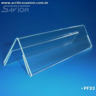 PF23-Prisma de mesa dupla face 21x5 cm