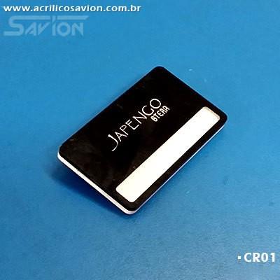 CR01-50 Unidades Crachá 6x3,5 cm - Reposição de Nomes