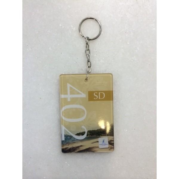 CH03-50 peças Chaveiros Numerados em Acrilico para Hotel e Pousada 5x7 cm