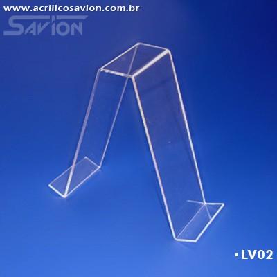 LV02-Display de mesa dupla face para Livros 8x20 cm