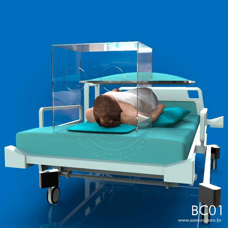 BC01-Caixa de Acrílico Para Contenção de Vírus