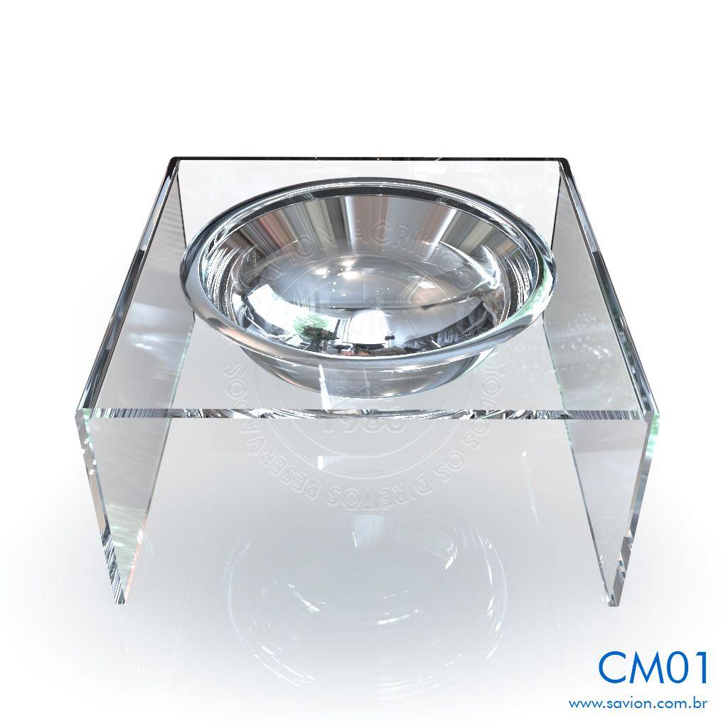 CM01-Comedouro e Bebedouro em acrílico para Pet