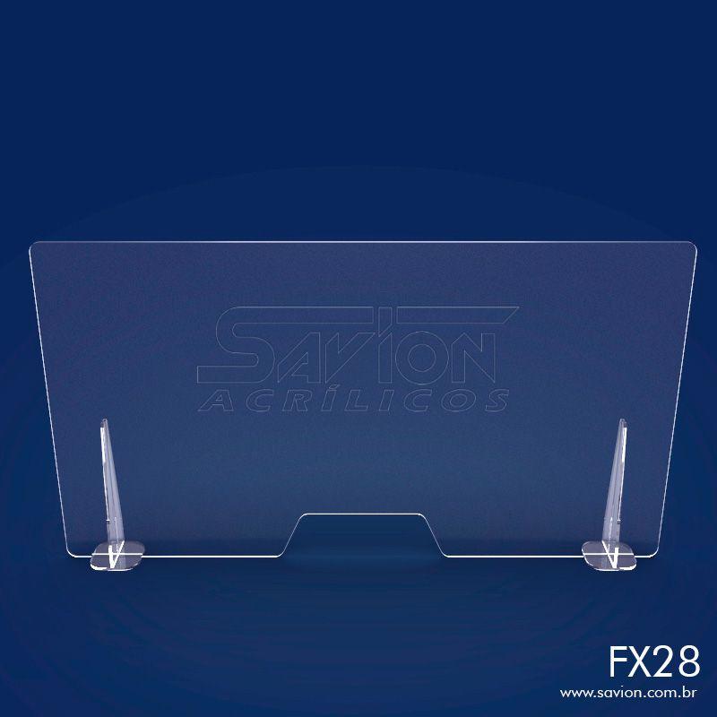FX28- Divisória de Acrílico para Mesa com abertura 120x66 cm