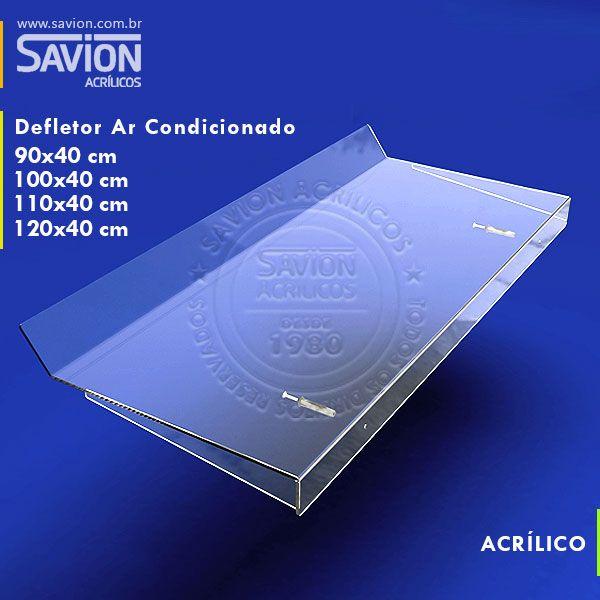 DF01-Defletor Em Acrilico Ar Condicionado Split 7/9/12/13000 Btu 90x40 Cm