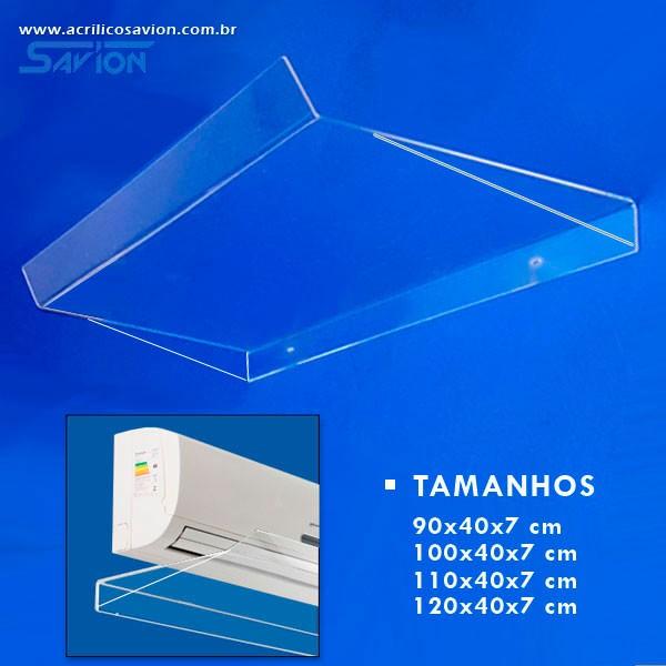 DF04-Defletor Em Acrilico Ar Condicionado Split 30000 Btu 120x40 Cm