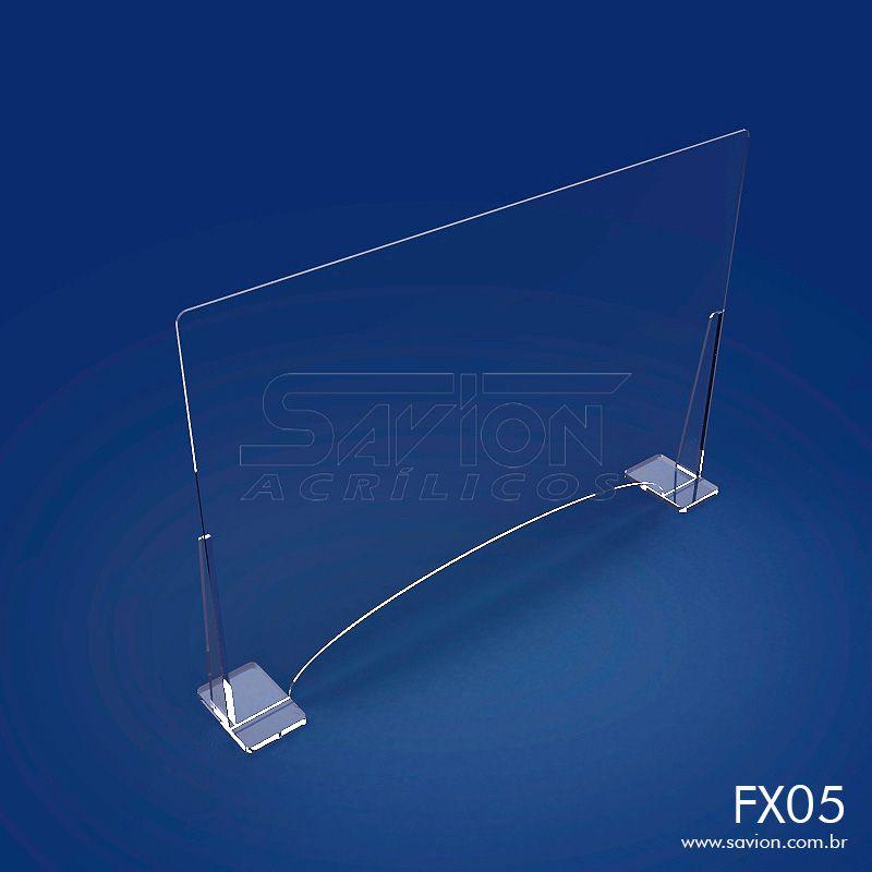 FX05-Proteção em Acrílico para Balcões de Atendimento 100x66 cm