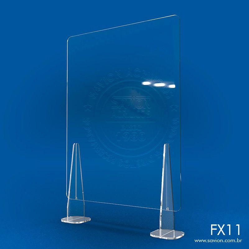 FX11-Proteção em Acrílico para Balcões de Atendimento 50x74 cm