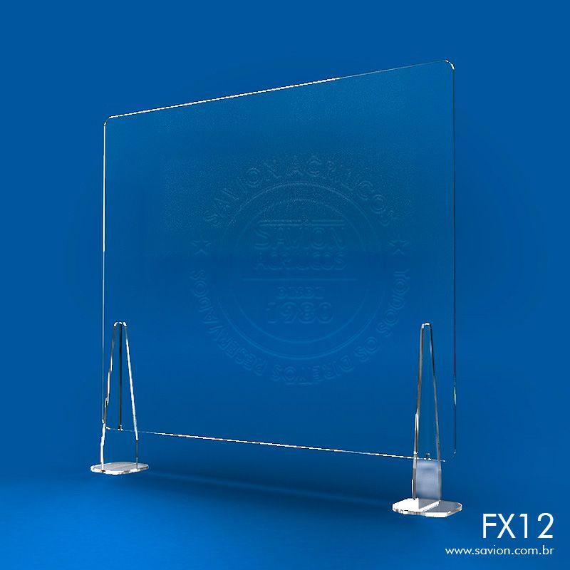 FX12-Proteção em Acrílico para Balcões de Atendimento 80x74 cm