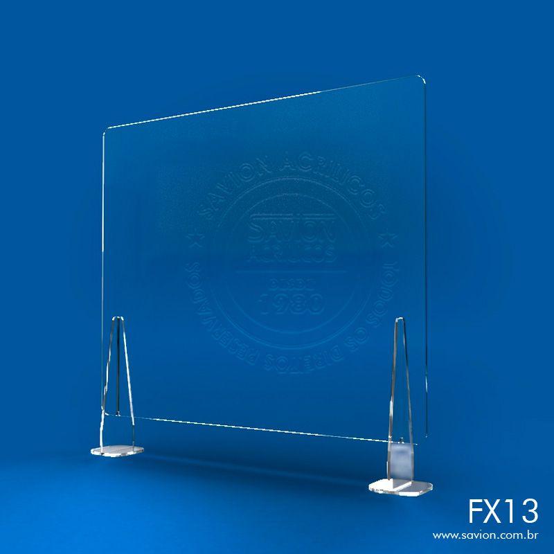 FX13-Proteção em Acrílico para Balcões de Atendimento 100x74 cm