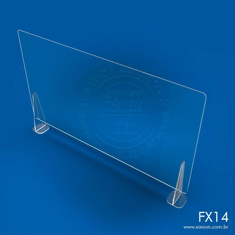 FX14-Proteção em Acrílico para Balcões de Atendimento 120x74 cm