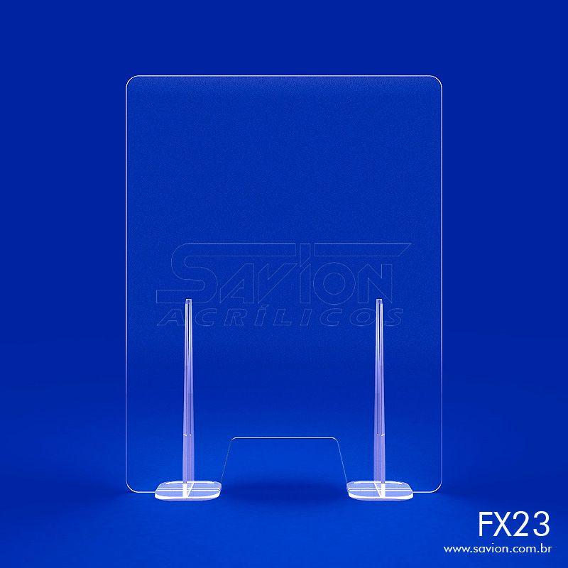 FX23- Divisória de Acrílico para Mesa e Balcão 50x66 cm