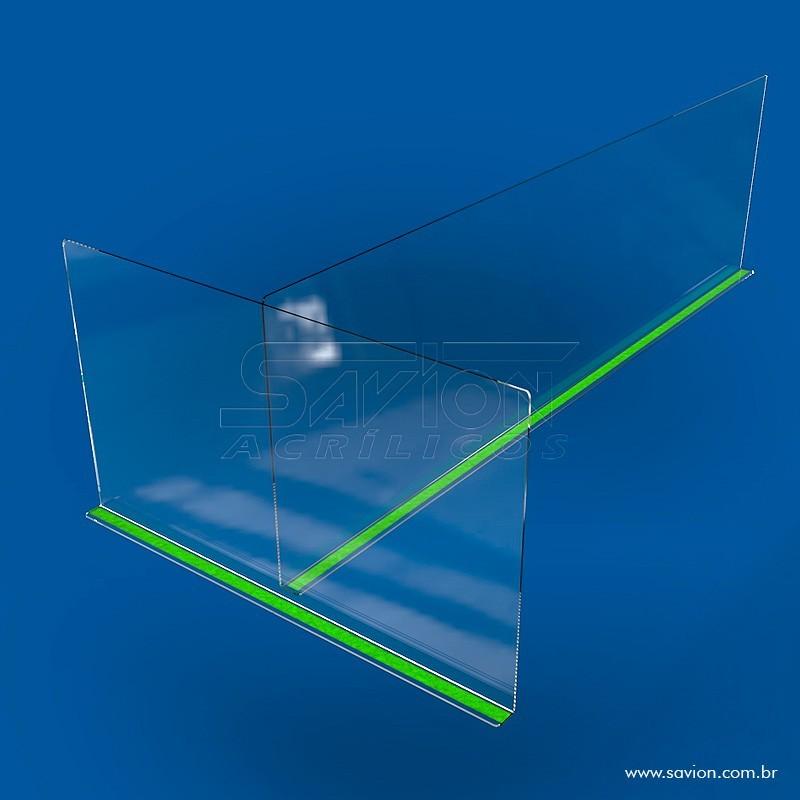 FX45- Proteção de acrílico Divisória para Baia 1400x400 Mm