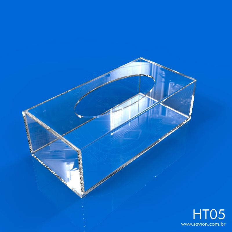 HT05-Caixa de Acrilico Para Papel Toalha 25x12x8 Cm