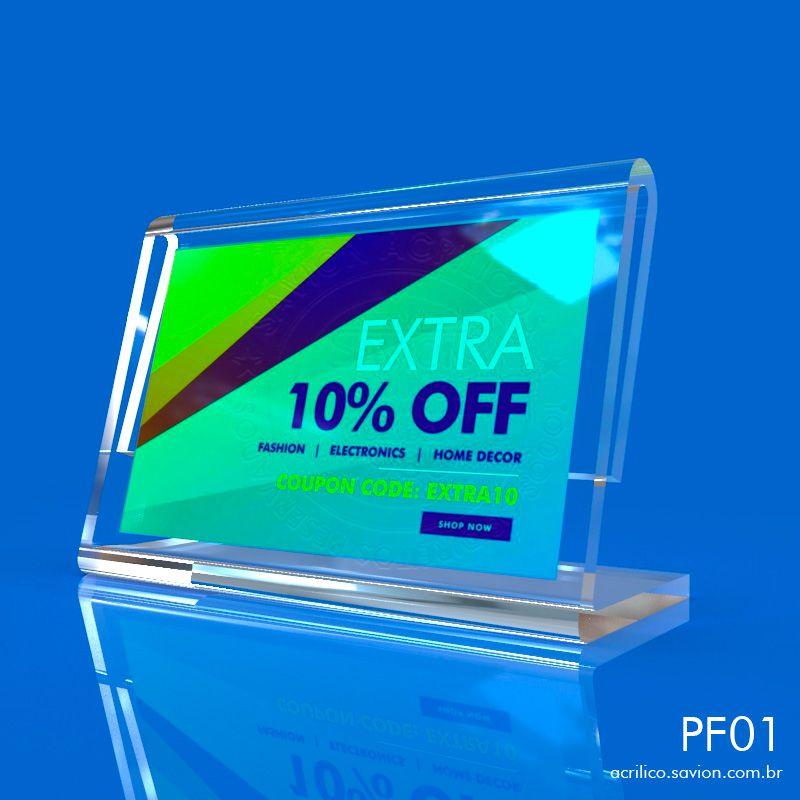 PF01-Porta Folheto de mesa 5x3 cm