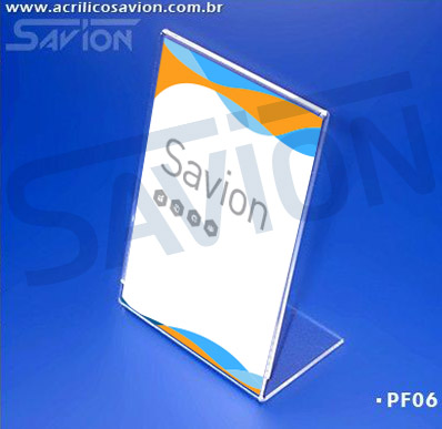 PF06-Porta Folheto de mesa 9x13 cm