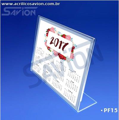 PF15-Porta Folheto de mesa 30x22 cm A4 Horizontal