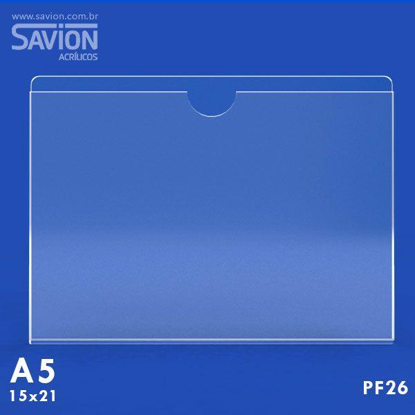 PF26-Porta Folheto de Parede 22x15 Cm A5 Horizontal
