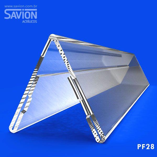 PF28-Prisma de mesa dupla face 30x5 cm